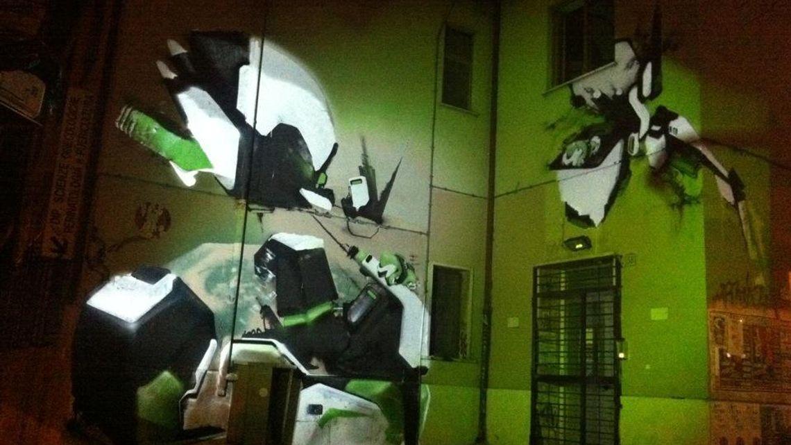 "LPM 2012 Rome | ""Ségnàlo"": mapping-photowriting by Verbo"