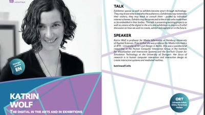 subnetTALK: The digital in the Arts and in Exhibition – Katrin Wolf