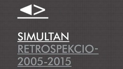 SIMULTAN RETROSCPECTION 2005-2015