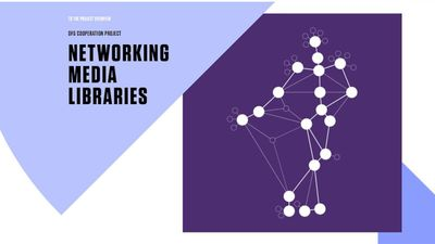 Digital networking of media libraries for the performing arts