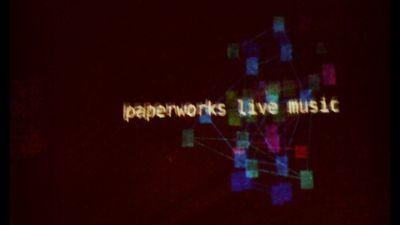 fluxus live coding visuals @paperworks music