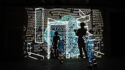 Intalacao mapping interactiva (som e movimento), video Pixel Bitch fotos Liliana Resende (1)
