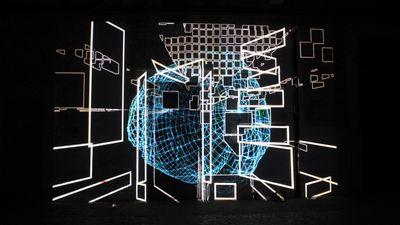 Intalacao mapping interactiva (som e movimento), video Pixel Bitch fotos Liliana Resende (2)