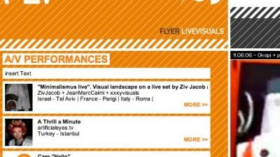 Flyer Live Visuals