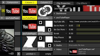 YouTube Video Mixer using Resolume
