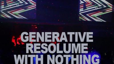 generative resolume with nothing