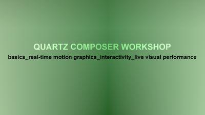 Quartz Composer [100€]