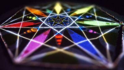 Mandala Nature - a sacred geometry projection mapped sand mandala