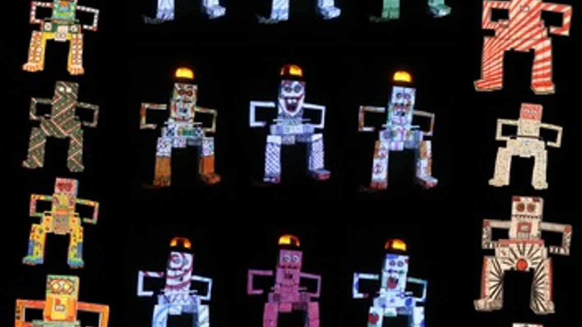 Tetra Tinus coloring video mapping