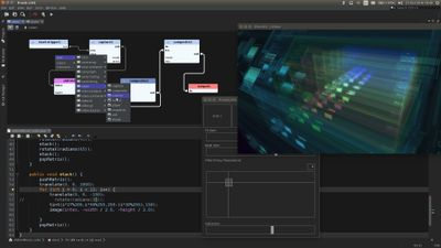 Praxis LIVE - hybrid visual creative coding