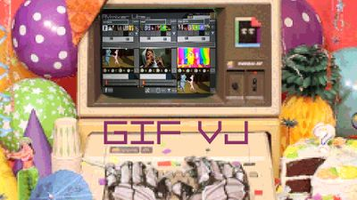 AVmixer + Giphy API = GIF VJ