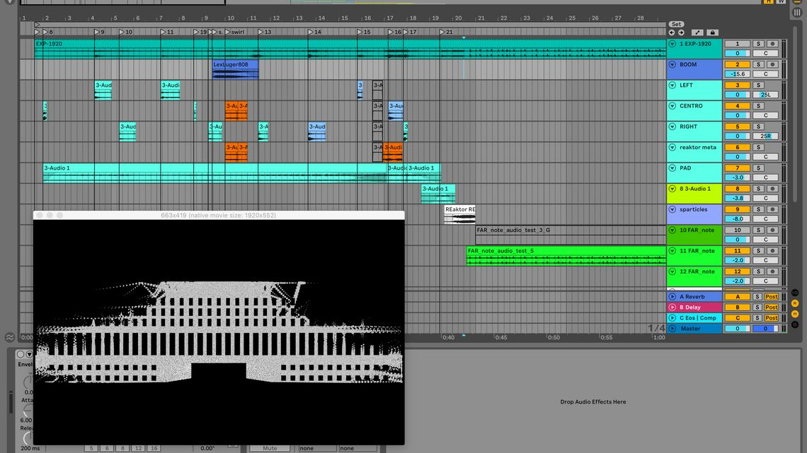 Il video in Ableton Live, workflow, pregi, difetti.