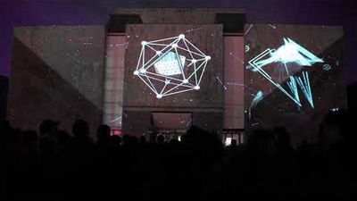 Scan Light  - Video Art Projection Mapping