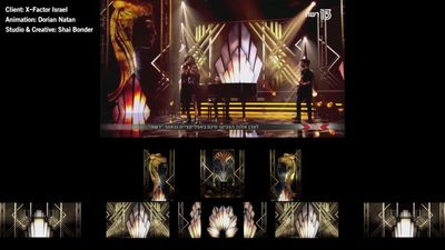 Stage wide Animations for X-FACTOR Israel 2018
