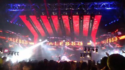 Masterdamus visuals & Imagine Vs. dj ALESSO @ Secret party in Masda Israel 2016